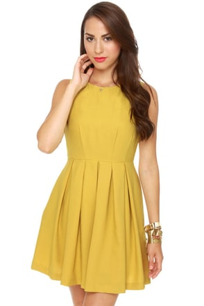 Born Ready Mustard Yellow Dress