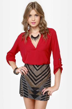 Jewels Rush In Beaded Mini Skirt