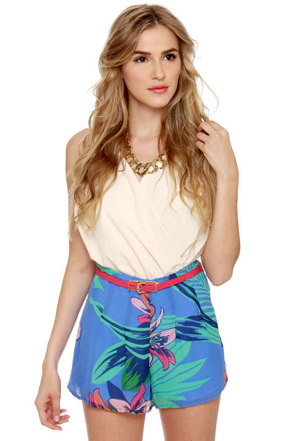 Miami Spice Floral Print Shorts