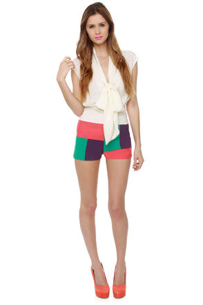 Smarty Pants Color Block Shorts