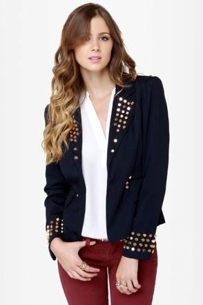 All That Jazz Studded Navy Blue Jacket