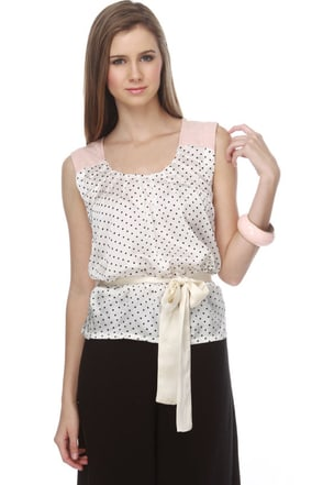 Knitted Dove Tea Time Polka Dot Top