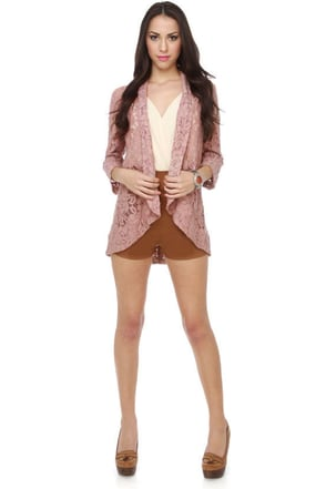 English Estates Lace Pink Blazer