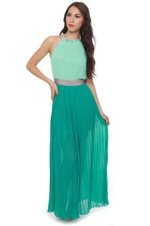 Entertain-Mint Tonight Mint Green Maxi Dress
