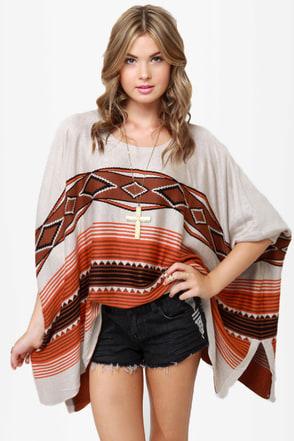Diamondback Brown Sweater Top