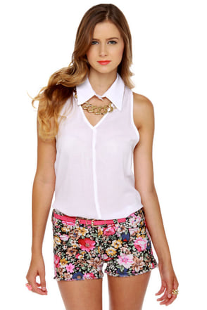 Mission Street Floral Print Shorts