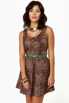 Meow-sterpiece Theatre Leopard Print Dress