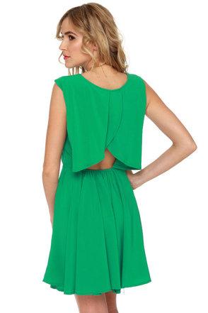 Finishing Touch Sleeveless Green Dress