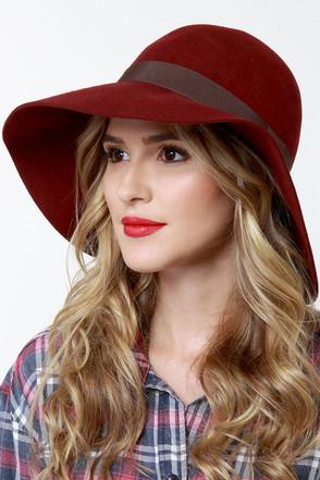 Roxy Autumn Burgundy Wool Hat