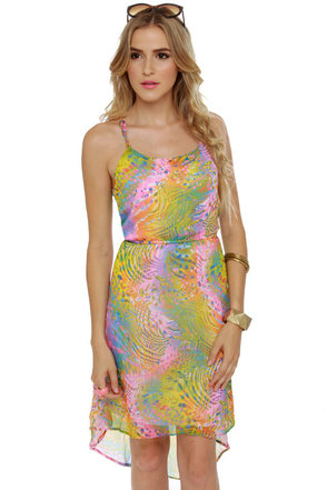 Psychedelic Delights Print Dress