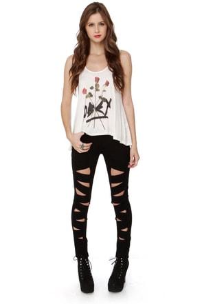 Tripp NYC Z-Cut Black Jeans