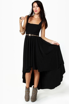 Black Sheep Tiger Lily Black High-Low Dress