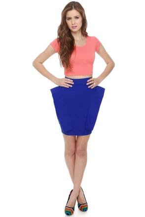 Pep Talk Royal Blue Skirt