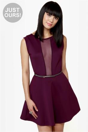 Cut It Out Plum Purple Dress