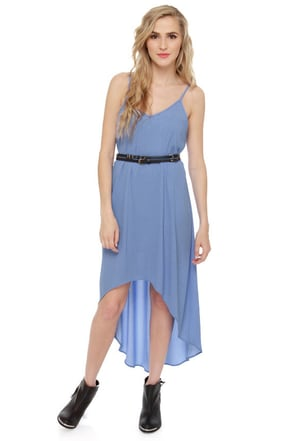 Point Break High-Low Periwinkle Blue Dress