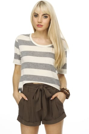 Lucy Love Sugar Tails Striped Top