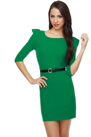 Pine Tree Kelly Green Dress