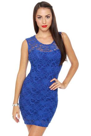 Cabaret Royal Blue Lace Dress