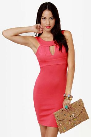 True Calling Coral Pink Dress