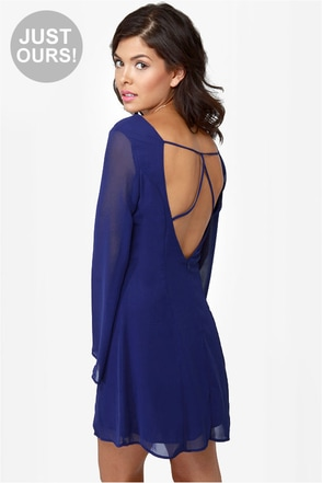 Back in a Flash Blue Dress