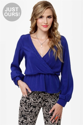 Office Party Blue Top