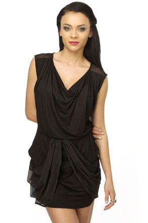 World of Veils Black Dress