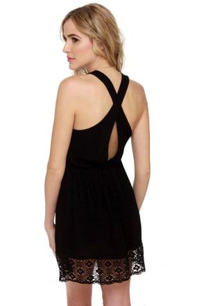 Morning Market Black Lace Dress