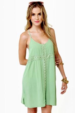 Fancy Free Light Green Dress