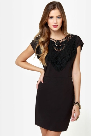 Touch of Class Black Lace Dress