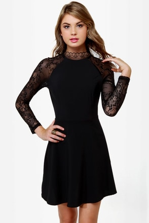 Strike of Midnight Black Lace Dress