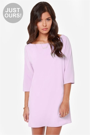 LULUS Exclusive Open Heart Lavender Shift Dress