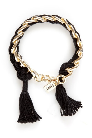 Braiders of the Lost Spark Black Friendship Bracelet