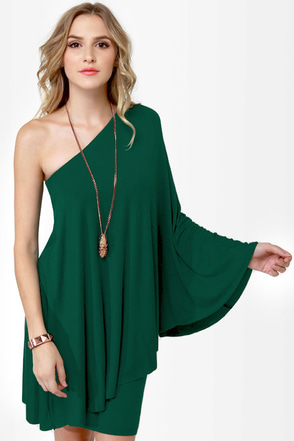 Leaves of Sass Dark Green Dress