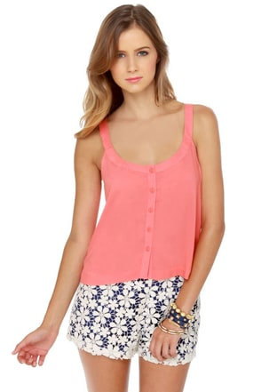 O'Neill Stella Coral Cropped Tank Top