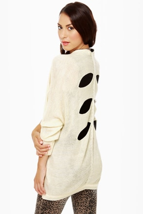 Knit and Run Glitter Ivory Sweater