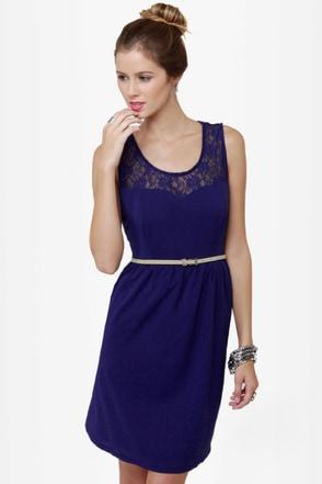 Indigogo Girl Blue Lace Dress