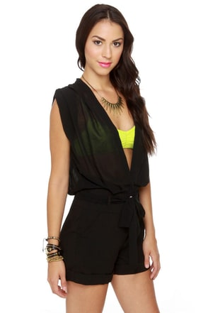 Salute to Cute Black Romper