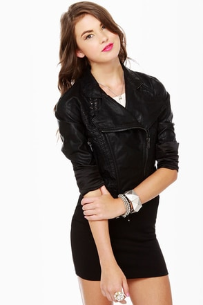Blank NYC Fitted Black Moto Jacket