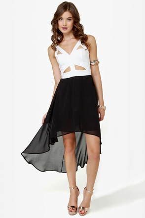 For Keeps Ivory and Black Dress