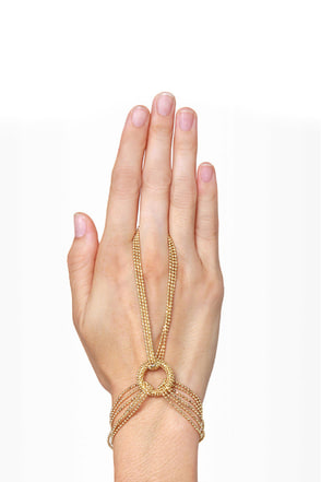 Give \'em the Ring-around Gold Harness Bracelet