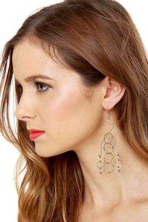 Brain Teaser Silver Earrings