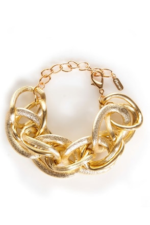 More for Me Gold Chain Bracelet