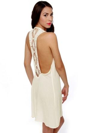 Under the Sun Ivory Lace Dress