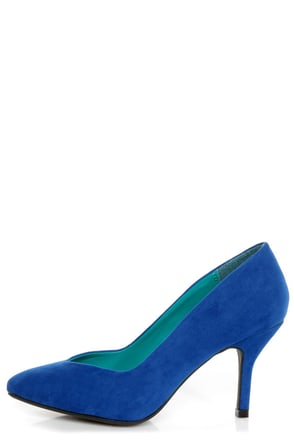 Bamboo Deluxe 01 Blue Pointed Pumps