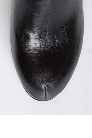 Bamboo Magnet 02 Black Studded Sleeve Platform Heel Boots