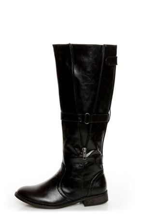 C Label Alexis 16 Black Unzipped Riding Boots