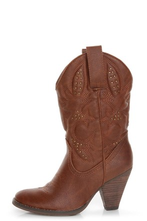 Very Volatile Dallas Brown Embroidered Cowboy Boots