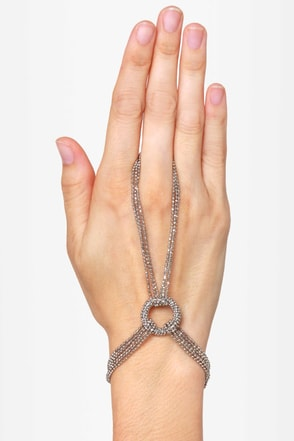 Give \'em the Ring-around Silver Harness Bracelet