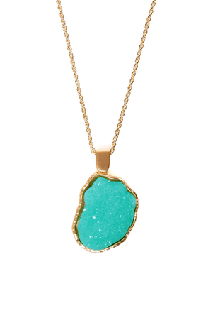 Crystal Garden Mint Necklace