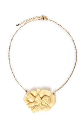 Briar Rose Ivory Rose Necklace